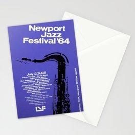1964 Newport Jazz Festival Vintage Advertisement Poster Newport, Rhode Island Stationery Cards