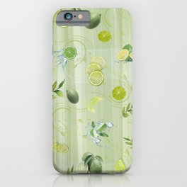 Freefall Lime Frenzy iPhone Case