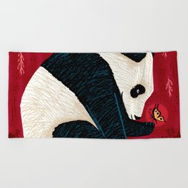The Panda and the Butterfly Beach Towel