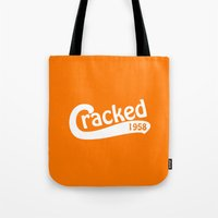 dodgers Tote Bags featuring Cracked Retro by The Cracked Dispensary