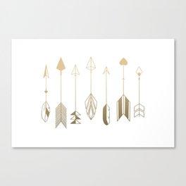 Be Brave Little Arrow (gold) Canvas Print
