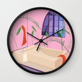 Bathed Wall Clock