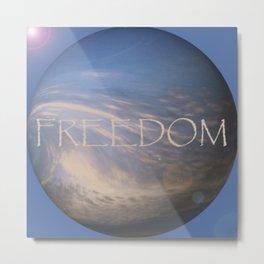 FREEDOM Sphere - BLUE Metal Print
