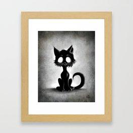 Creepy Cat Framed Art Print