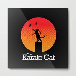 The Karate Cat Metal Print