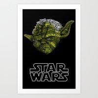 yoda Art Prints featuring Yoda by Stormega