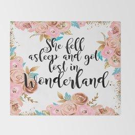 Lost in Wonderland Throw Blanket