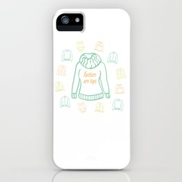 Knitters Are Tops - Pastel iPhone Case