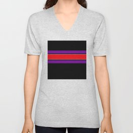 Team Colors 2...red ,purple, black and white Unisex V-Neck