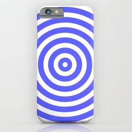 Circles (Azure & White Pattern) iPhone Case