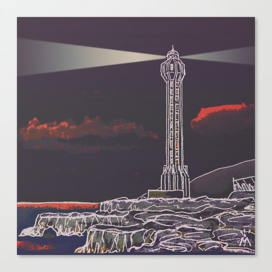 Lighthouse / Punta Lava La Palma Canvas Print