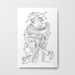 Three Funny Clowns Metal Print