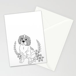 Otis and flowers Stationery Cards