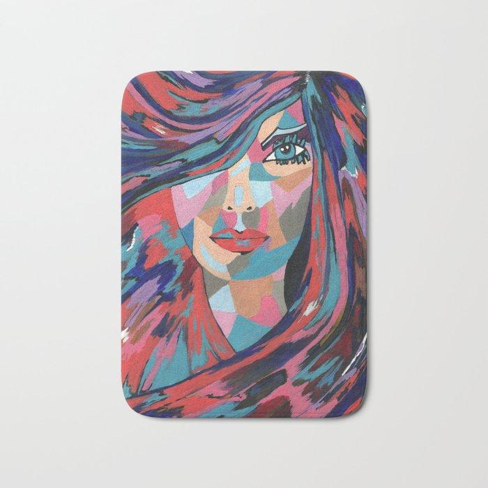 Psychedelic Jane - Contemporary Woman Art Bath Mat