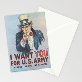 Vintage American First World War Poster - I Want You for the US Army (1917) Stationery Cards