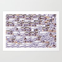content-aware missingno Art Print