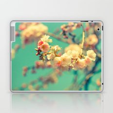 Pink blue blossom Laptop & iPad Skin