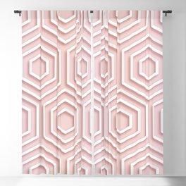 3D Hexagon Gradient Minimal Minimalist Geometric Pastel Soft Graphic Rose Gold Pink Blackout Curtain