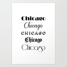 Chicago City Quote Sign, Calligraphy Text Art, Large Printable Photography, World City Print Art Print