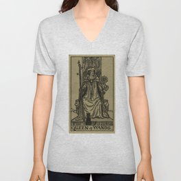 Queen Of Wands Unisex V-Neck