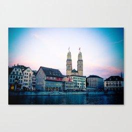 Quiet evening in Zurich Canvas Print