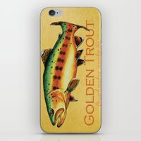 trout iPhone & iPod Skins featuring Golden Trout by MoosePaw