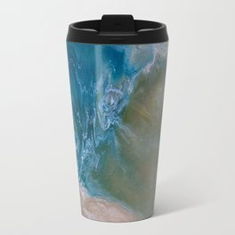 Oceanic swirl abstract Travel Mug