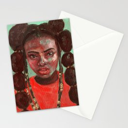 Oil painting - Girl Portrait #6 Stationery Cards