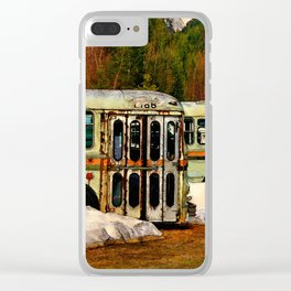 Bus Cemetery Clear iPhone Case