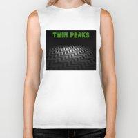 twin peaks Biker Tanks featuring Twin Peaks  by Spyck