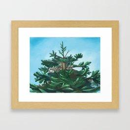 Evergreen & Sky Framed Art Print