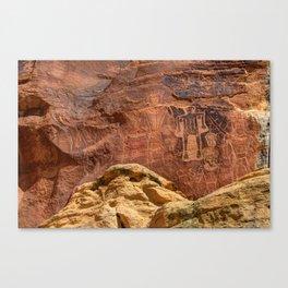 Three Kings Petroglyph - Mcconkie Ranch - Utah Canvas Print