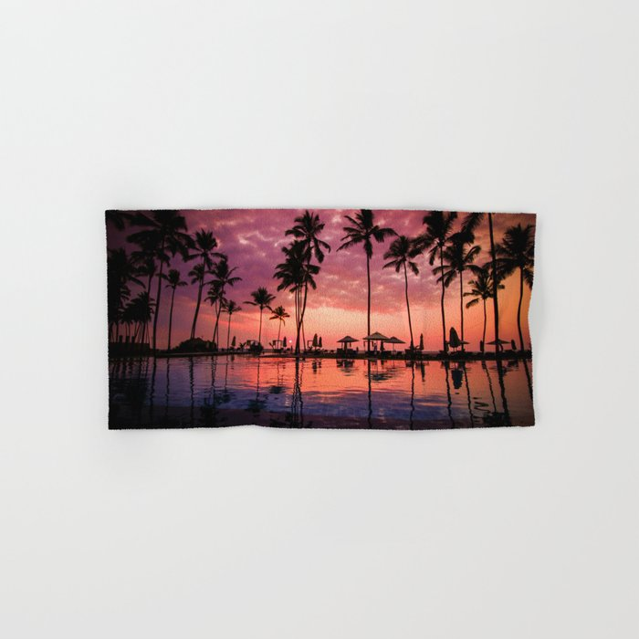 Paradise Sunset Tropical (Color) Hand & Bath Towel