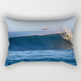 Sunrise surfing at Sunset Beach. Rectangular Pillow