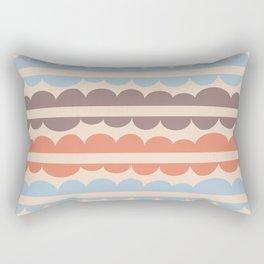 Mordidas Blue Retro Rectangular Pillow