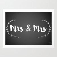 Mrs and Mrs Art Print