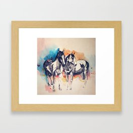 Two Horses (Standing) Framed Art Print