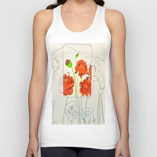Perspective on Flowers Unisex Tank Top