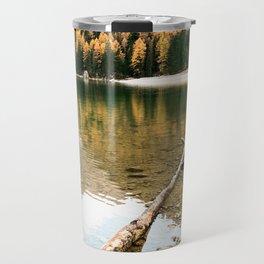 braies lake Travel Mug