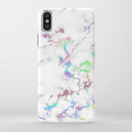 Holo Rainbow Unicorn Marble iPhone Case