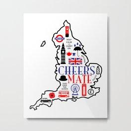 England Love Metal Print