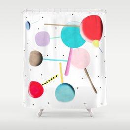 Lollypop Lolli Pop Kinder Shower Curtain
