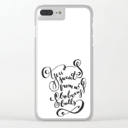 You Sweat from a Baboon's Balls - Coming to America Clear iPhone Case