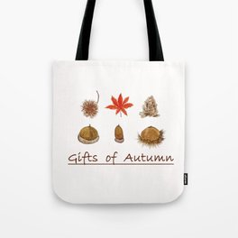 Gift of autumn watercolor painting Tote Bag