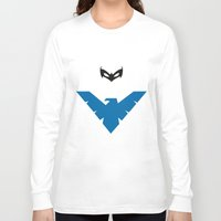 nightwing Long Sleeve T-shirts featuring Nightwing by JHTY