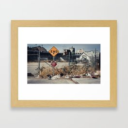 """""""It's the end of the road for me"""" Framed Art Print"""