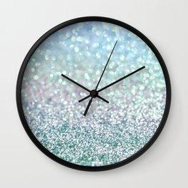 Blue Mist Snowfall Wall Clock