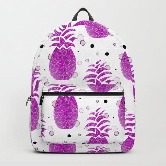 Purple Pineapple Pattern Backpack
