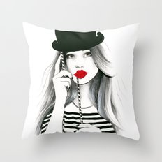 Sentimental Red Throw Pillow