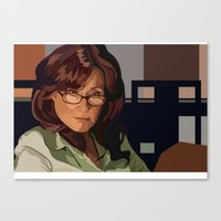 battlestar Canvas Prints featuring Battlestar Galactica : Mary McDonnell by Grace Teaney Art